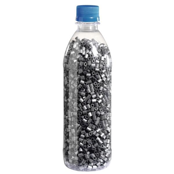 Koraliki do prasowania w butelce - srebrne