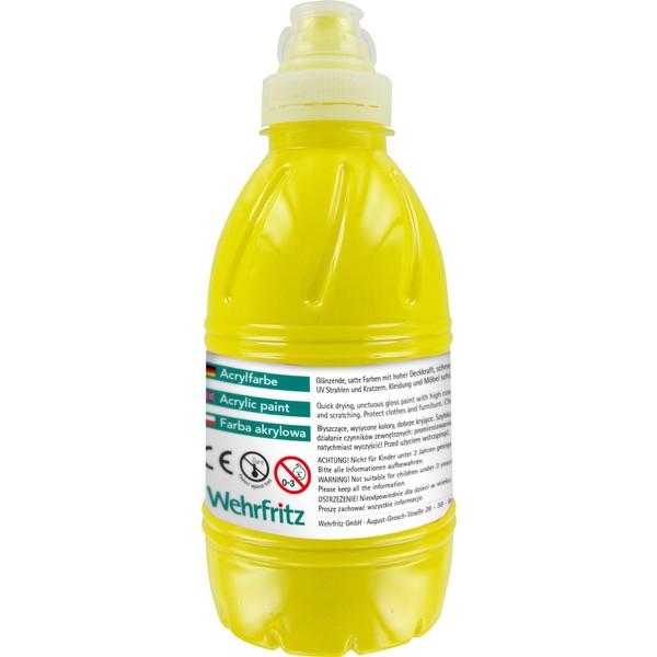Farby akrylowe Wehrfritz - żółta 500 ml