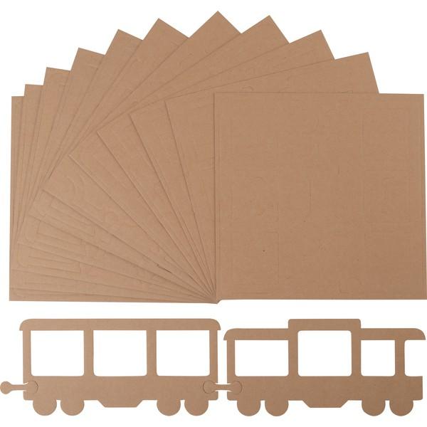 Pociąg - zestaw ramek blanko na zdjęcia, 24 szt.