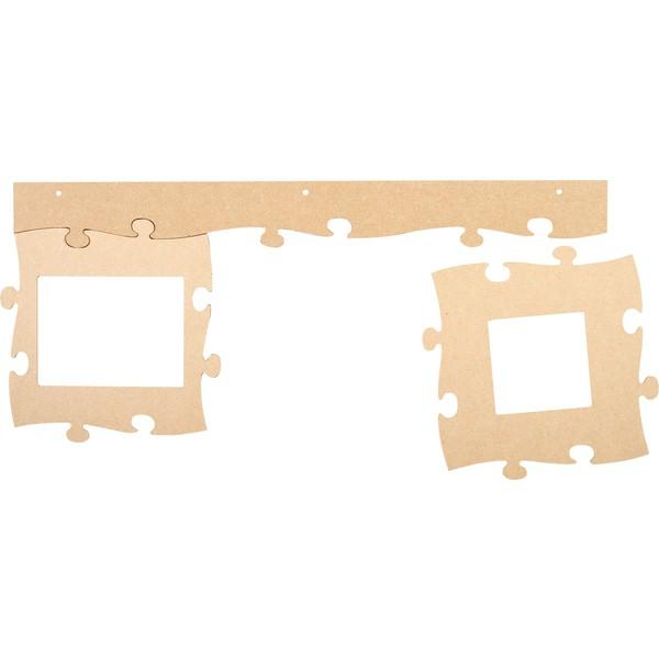 Ramki puzzle (na zdjęcie kwadrat), 3 sztuki