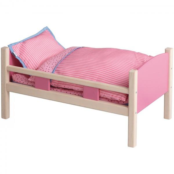 Łóżko dla lalki, różowe