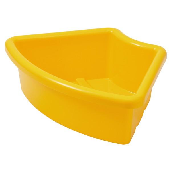 """Pojemnik na materiały """"Ćwierć koła"""" - żółty"""