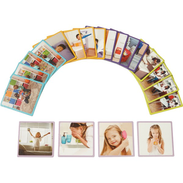 """Karty obrazkowe """"Kolejność czynności"""", 20 kart"""