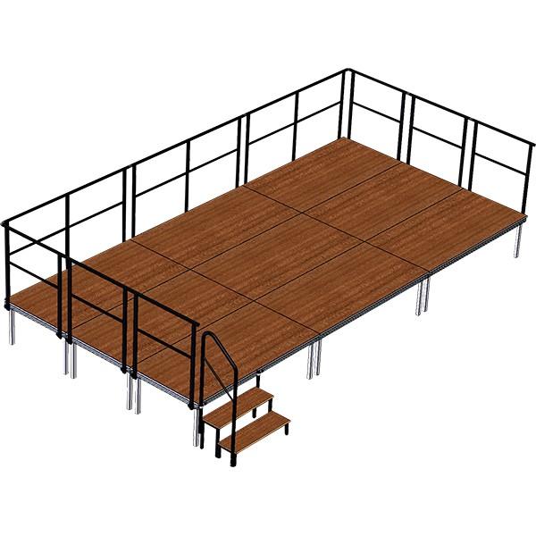 Zestaw podestów - scena 6 x 3 m