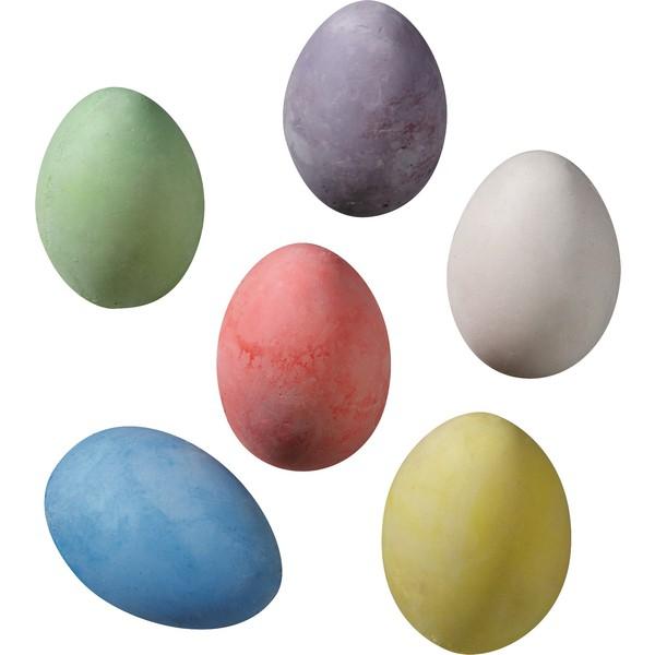 Kreda chodnikowa w kształcie jajka, 12 sztuk