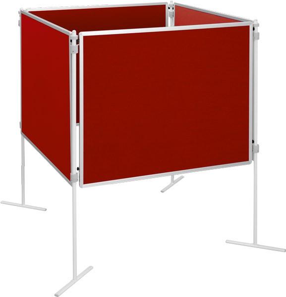 Zestaw tablic tekstylnych, czerwony, 8 el.