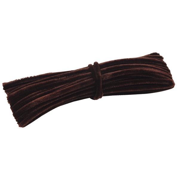 Grube, włochate druty szenilowe 12,5 m - brązowe