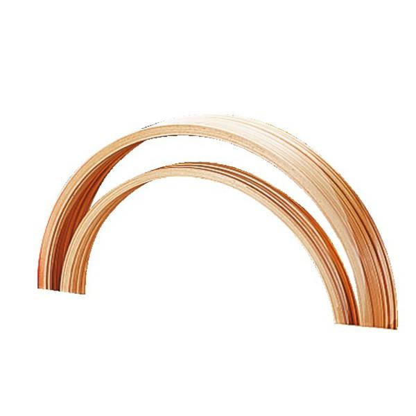 Obręcz gimnastyczna drewniana średnica 60 cm