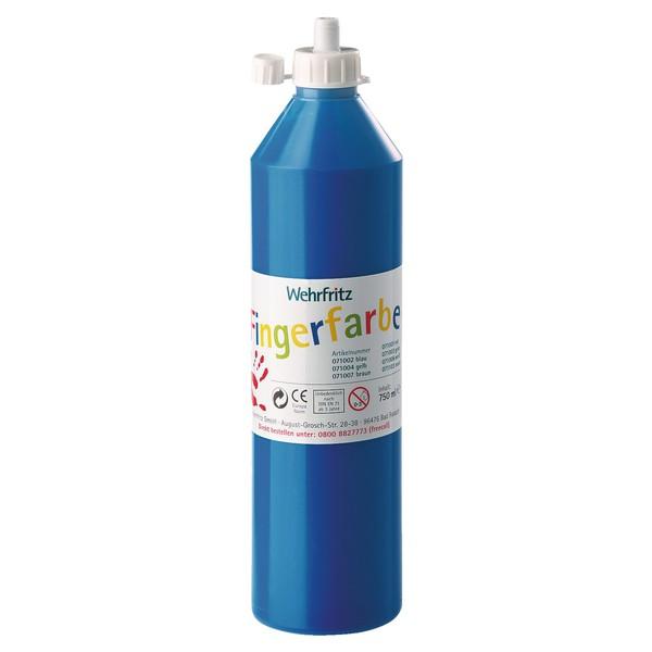 Wehrfritz - farby do malowania palcami, 750 ml - niebieski