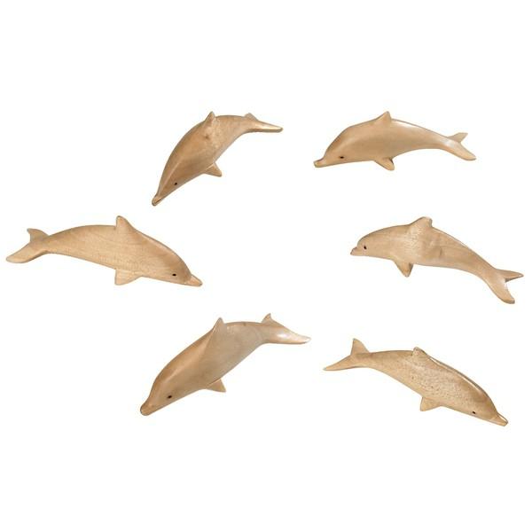 Delfiny z drewna, 18 sztuk