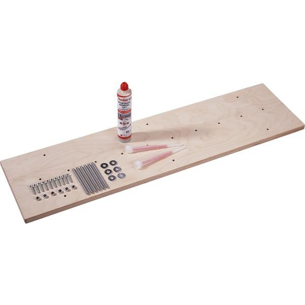 Materiał montażowy do ścian i sufitów z betonu