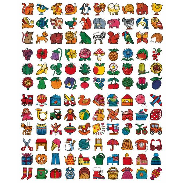"""Znaczki z tkaniny """"Zwierzęta"""", 30 sztuk"""