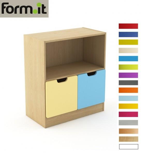 Szafka, szeroka, półotwarta, 1 półka, 2 szuflady