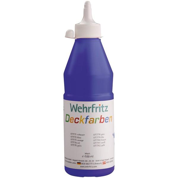 Kryjące farby Wehrfritz , 1 x 500 ml - niebieski (141727)