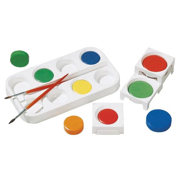 Palety na pojedynczą farbę temperową, 10 sztuk , średnica 5,5 cm
