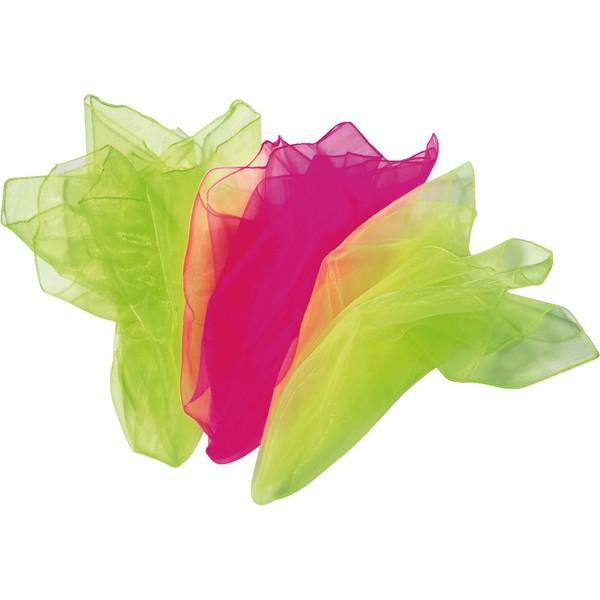 Zestaw chust szyfonowych nr 3 (neonowe: zielona, żółta, różowa)