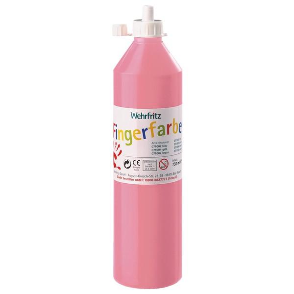 Wehrfritz - farby do malowania palcami, 750 ml - różowy