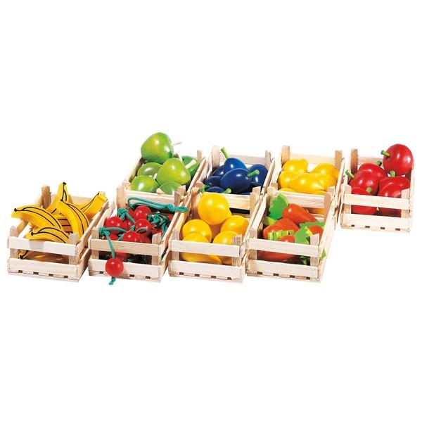 Skrzynki z owocami i warzywami, 5 sztuk