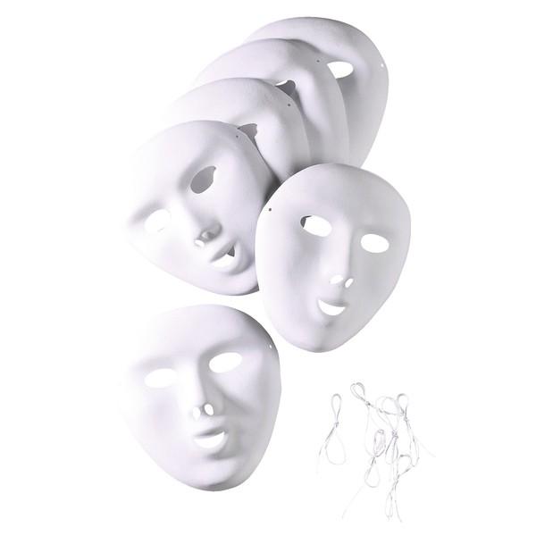 Maski blanko, 6 sztuk