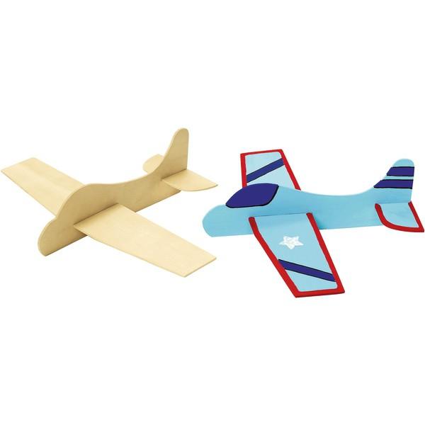 Zestaw samolotów z drewna do pomalowania, 12 sztuk