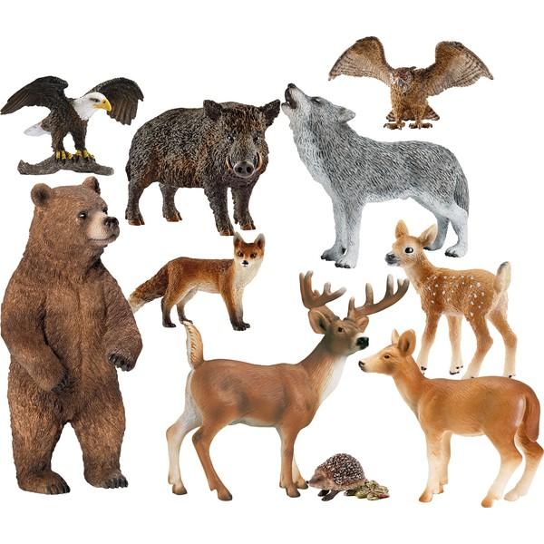 Zestaw zwierząt leśnych 10 sztuk
