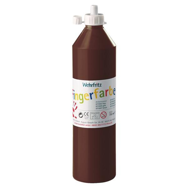 Wehrfritz - farby do malowania palcami, 750 ml - brązowy