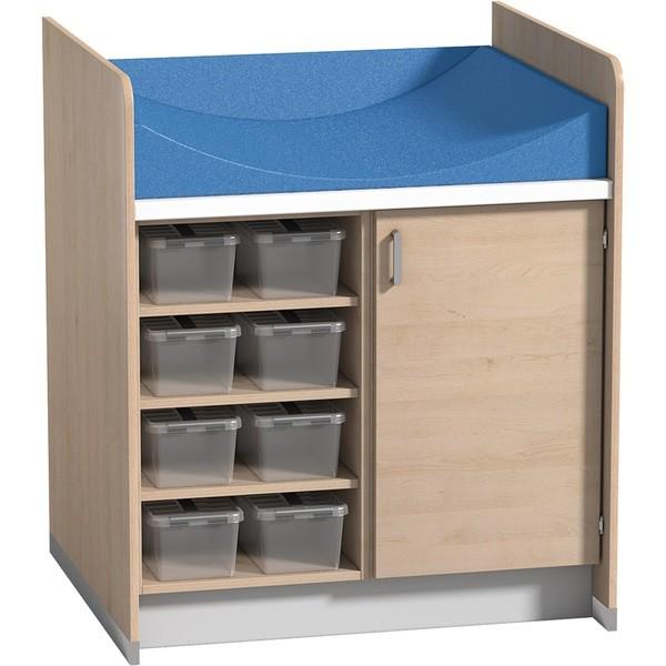 Przewijak z 3 półkami i 1 szafką