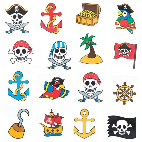 "Tatuaże ""Piraci"", 48 sztuk"