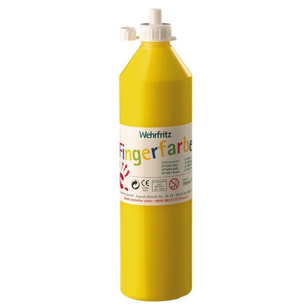 Wehrfritz - farby do malowania palcami, 750 ml - żółty