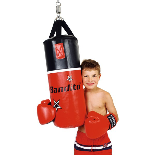 Worek bokserski z rękawicami