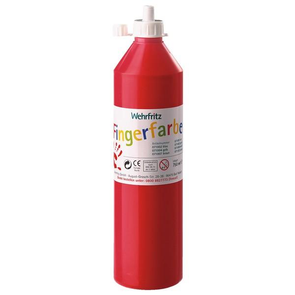 Wehrfritz - farby do malowania palcami, 750 ml - czerwony