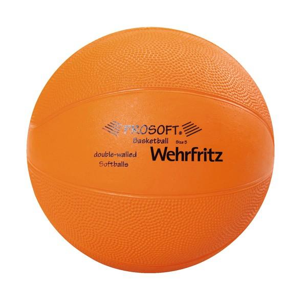 Piłka nożna ProSoft® , (niebieska, rozmiar 6 = średnica 22 cm, 360 g)
