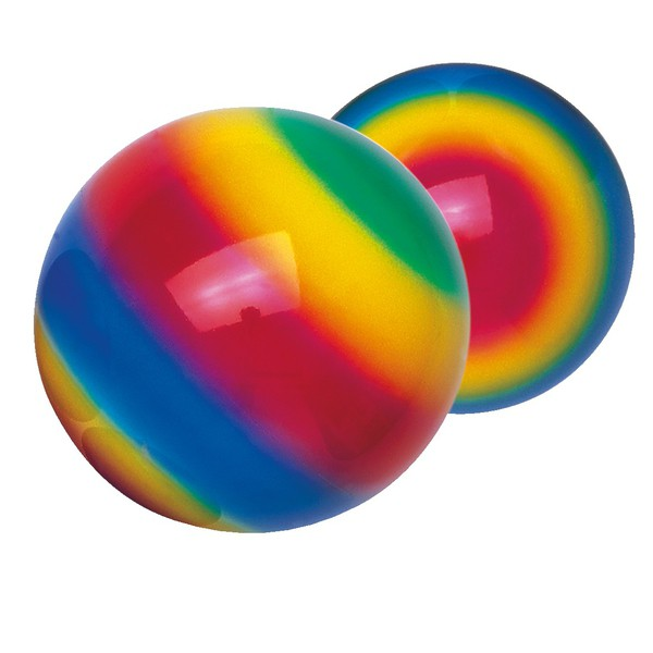 Piłki tęczowe średnica 23 cm, 5 sztuk