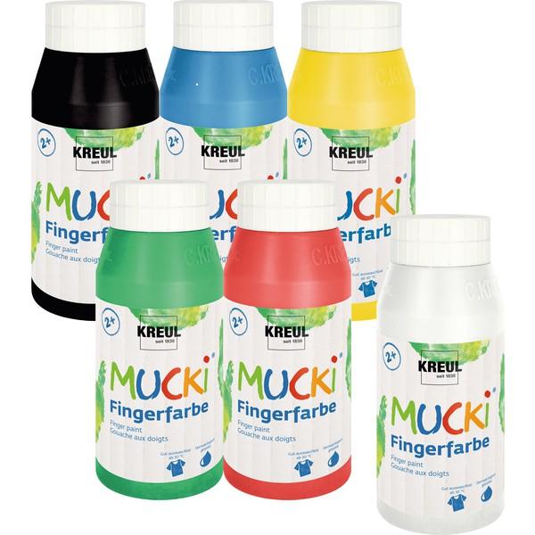 Farby Mucki - bezpieczne dla maluszków 6 x 750 ml