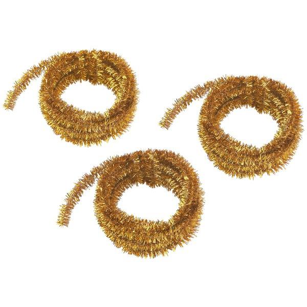 Druty szenilowe, metaliczne, złote, 3 x 500 cm