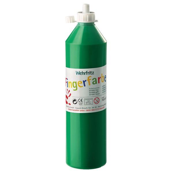 Wehrfritz - farby do malowania palcami, 750 ml - zielony