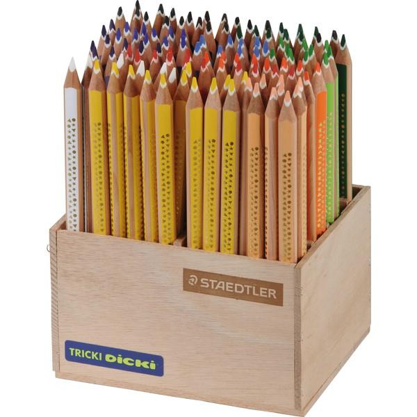 Tricki Dicki STAEDTLER, 112 kredek w drewnianym pudełku
