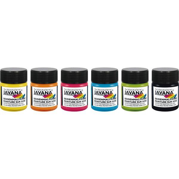 Javana – farby do malowania jedwabiu, 6 x 50 ml
