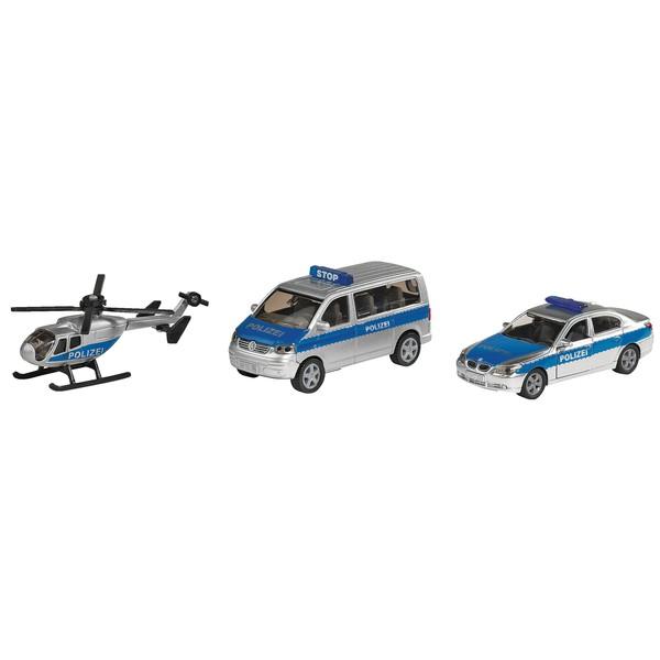 Zestaw pojazdów policyjnych