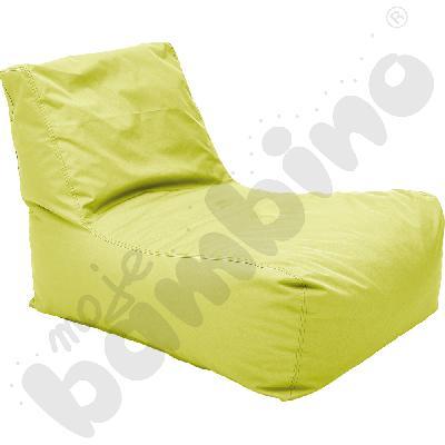 Pufa-fotel zielona