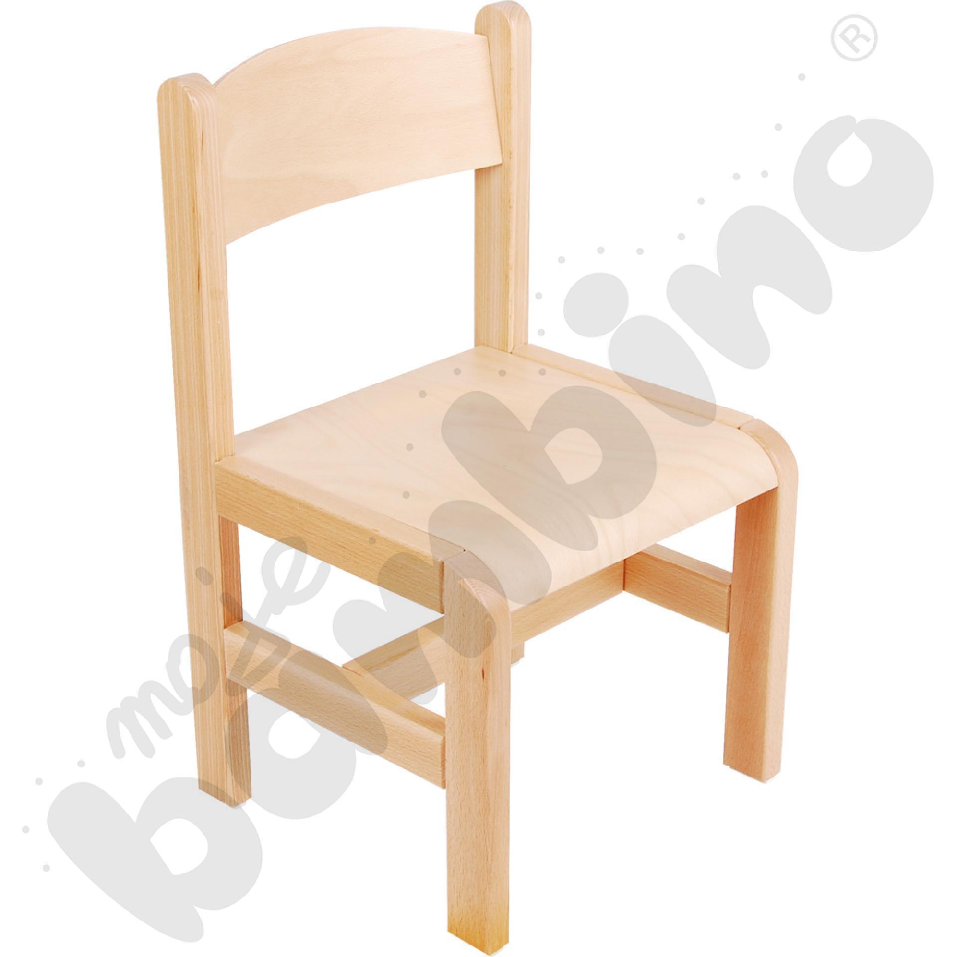 Krzesło drewniane bukowe rozm. 3