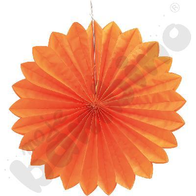 Papierowy wachlarz - pomarańczowy