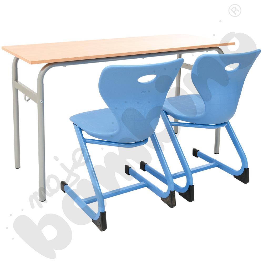 Stół Daniel 2-os. rozm. 6 + 2 krzesła kubełkowe rozm. 6