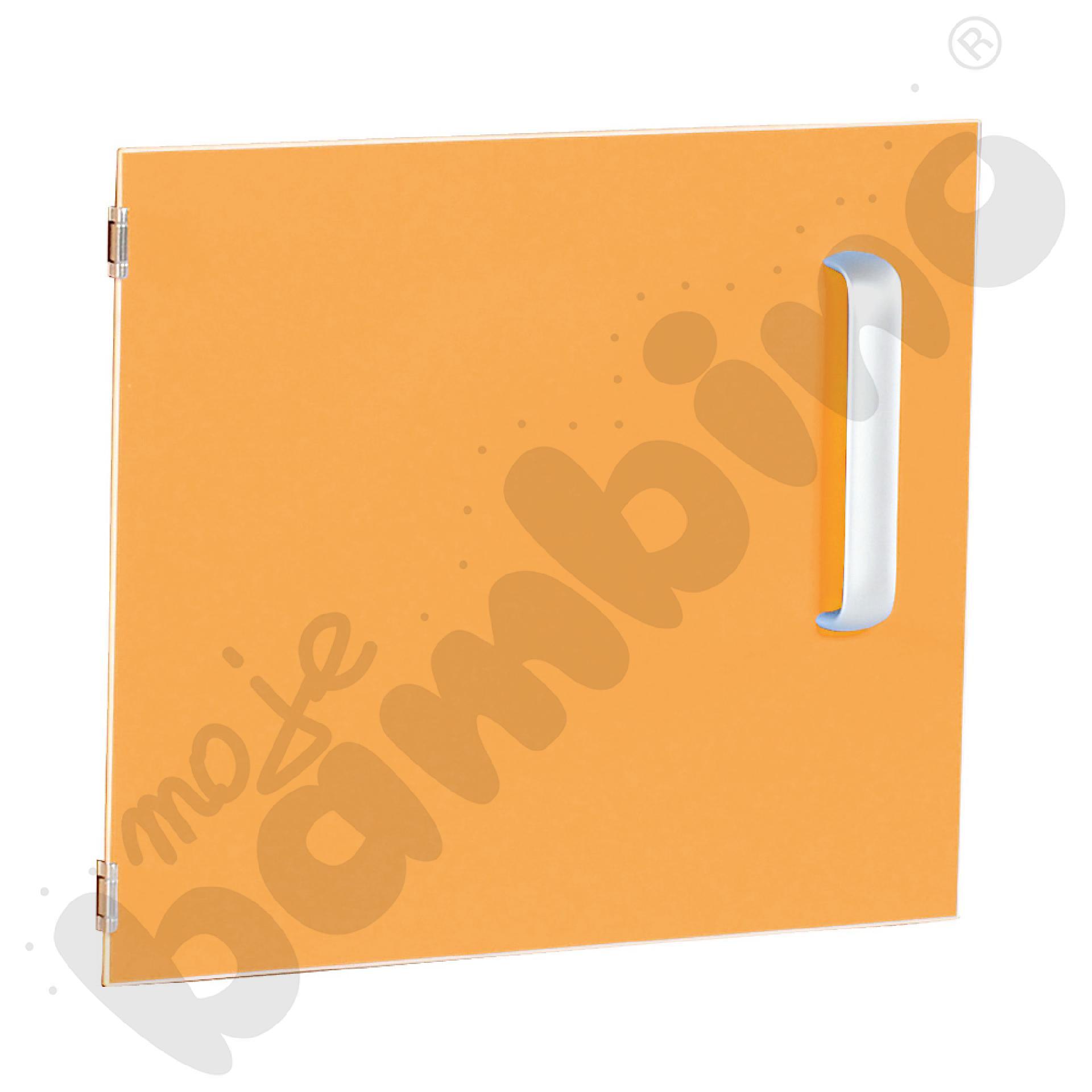 Drzwiczki do szafki M z przegrodą lewe - pomarańczowe