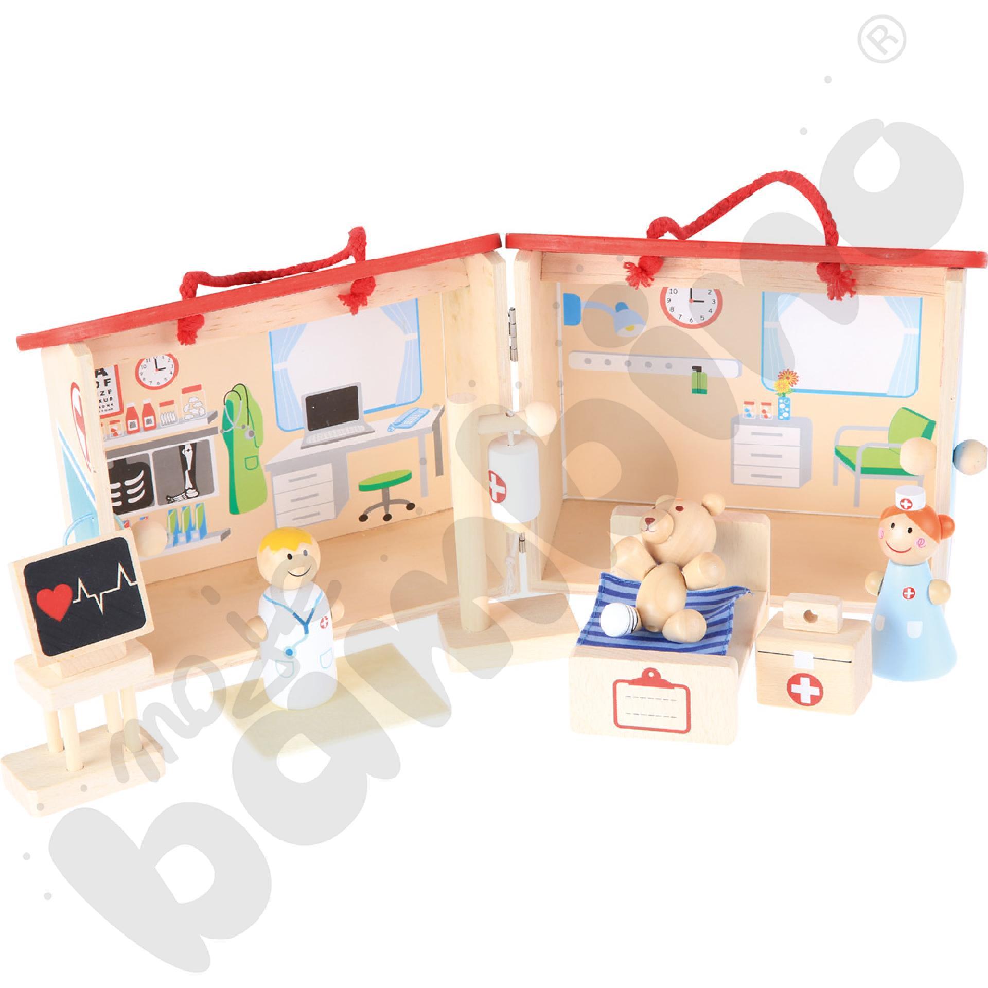 Drewniany zestaw szpital