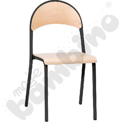 Krzesło P rozm.  6 czarne