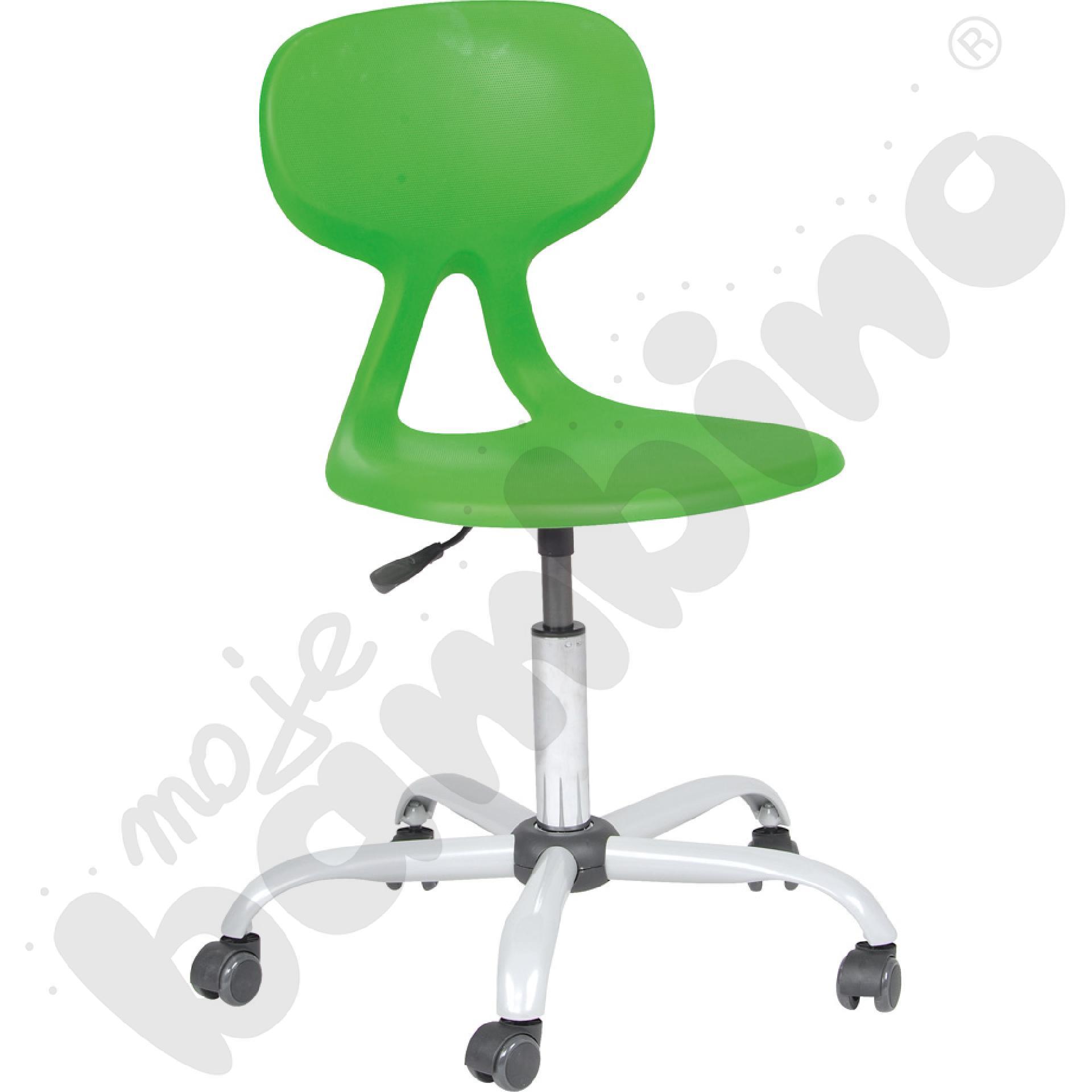 Krzesło Colores obrotowe na kółkach z reg.  wys. zielone