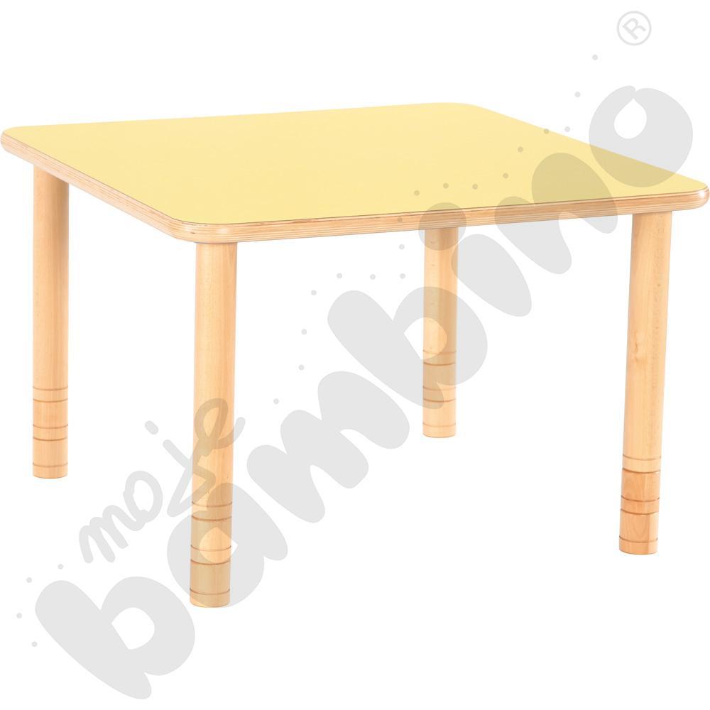 Stół Flexi kwadratowy - żółty