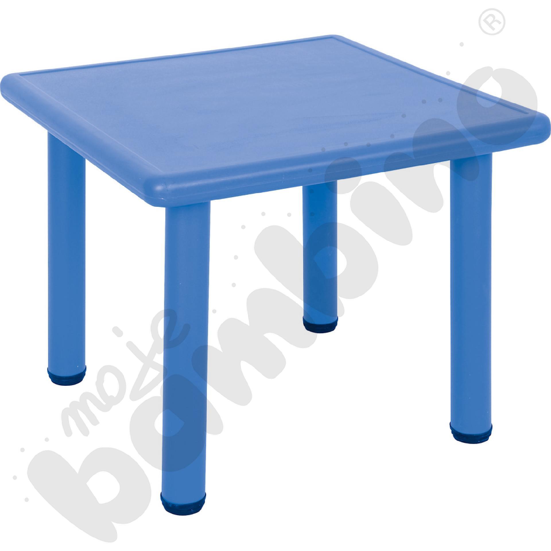 Stół Dumi kwadratowy - niebieski