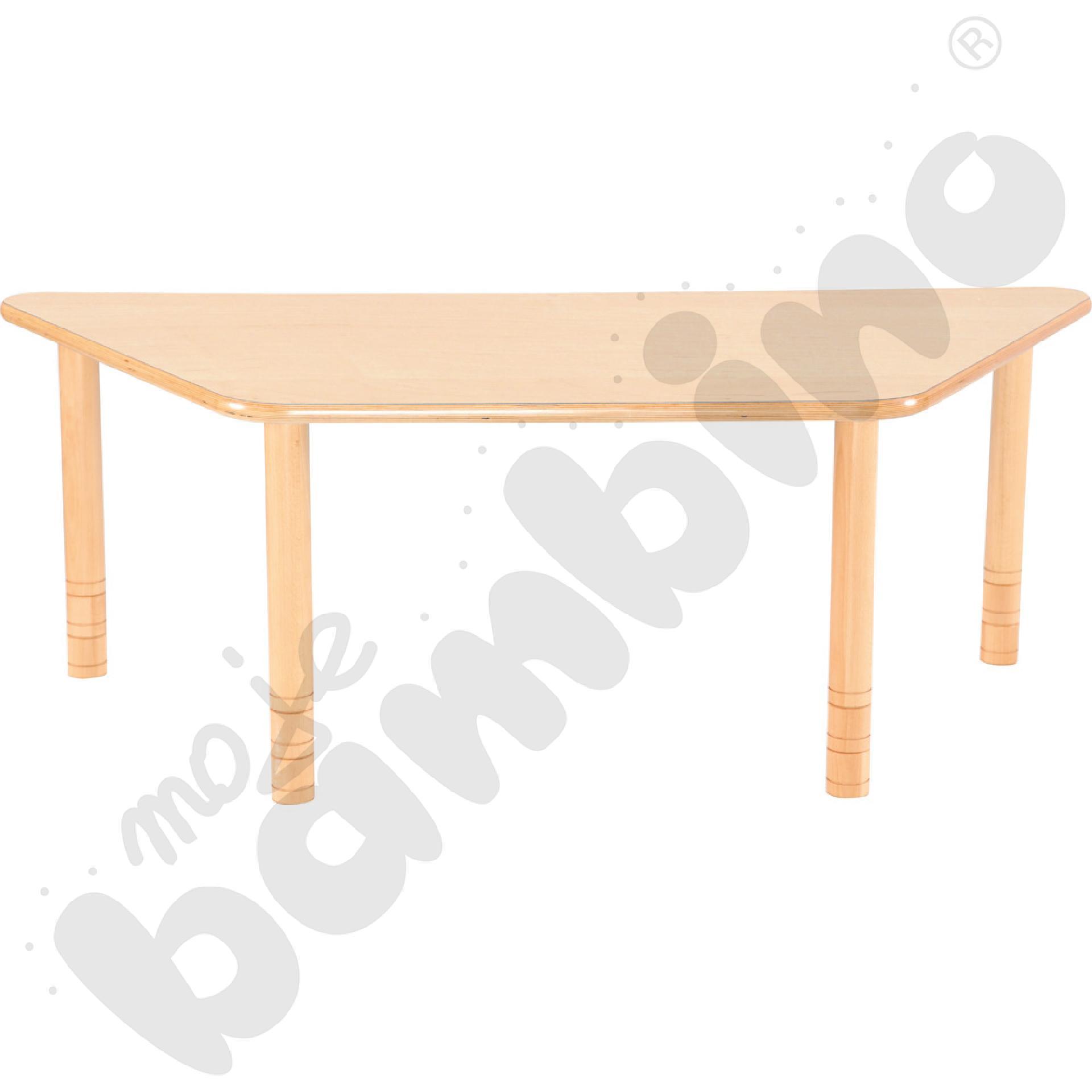 Stół Flexi trapezowy - bukowy